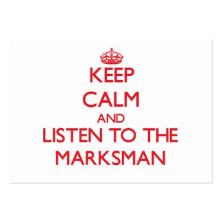 Keep Calm and Listen to the Marksman Business Card