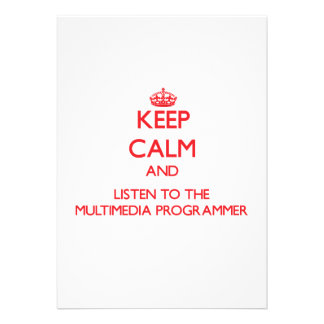 Keep Calm and Listen to the Multimedia Programmer Custom Invites