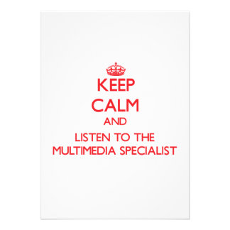 Keep Calm and Listen to the Multimedia Specialist Personalized Invitations