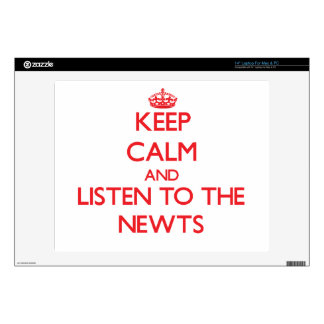 Keep calm and listen to the Newts Laptop Skin