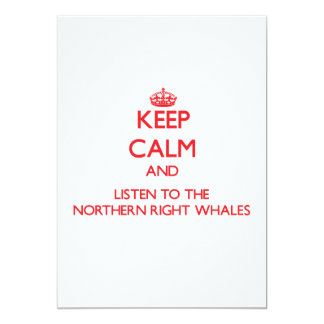 Keep calm and listen to the Northern Right Whales Invite