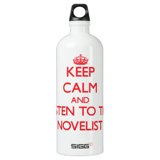 Keep Calm and Listen to the Novelist SIGG Traveler 1.0L Water Bottle