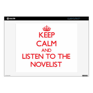 """Keep Calm and Listen to the Novelist Skins For 14"""" Laptops"""