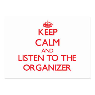 Keep Calm and Listen to the Organizer Large Business Cards (Pack Of 100)