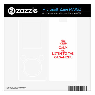 Keep Calm and Listen to the Organizer Skins For Zune