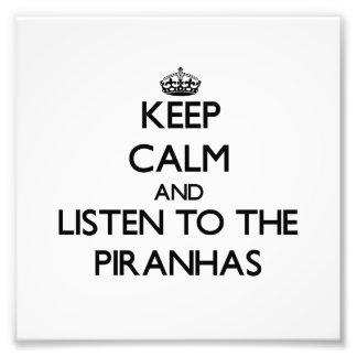 Keep calm and Listen to the Piranhas Photographic Print