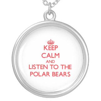 Keep calm and listen to the Polar Bears Round Pendant Necklace