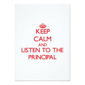 Keep Calm and Listen to the Principal Custom Invitations
