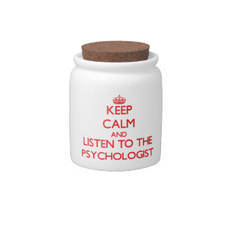 Keep Calm and Listen to the Psychologist Candy Jars