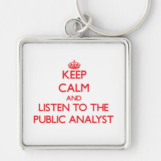 Keep Calm and Listen to the Public Analyst Key Chains