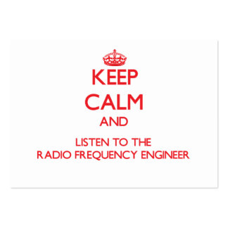 Keep Calm and Listen to the Radio Frequency Engine Large Business Cards (Pack Of 100)