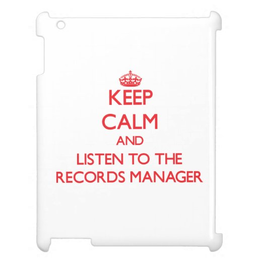 Keep Calm and Listen to the Records Manager Cover For The iPad 2 3 4
