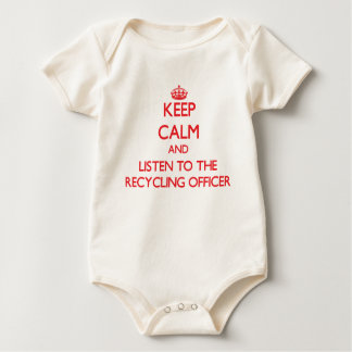 Keep Calm and Listen to the Recycling Officer Rompers