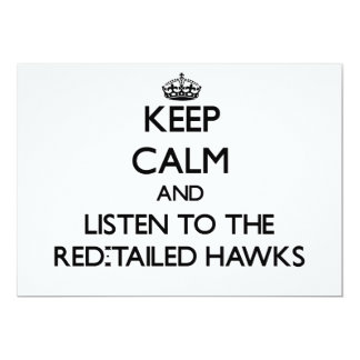 Keep calm and Listen to the Red-Tailed Hawks Custom Announcements