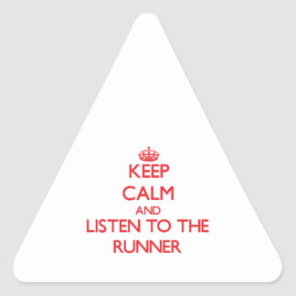 Keep Calm and Listen to the Runner Triangle Sticker