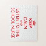 Keep Calm and Listen to the School Nurse Jigsaw Puzzle