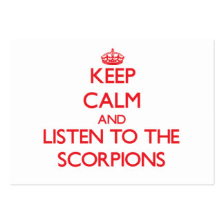 Keep calm and listen to the Scorpions Business Card