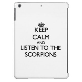Keep calm and Listen to the Scorpions iPad Air Cover