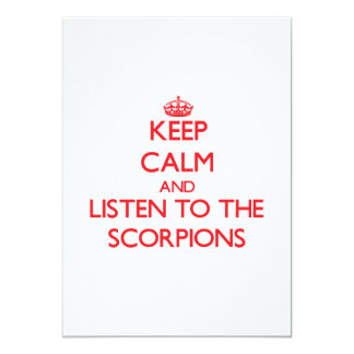 """Keep calm and listen to the Scorpions 5"""" X 7"""" Invitation Card"""