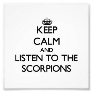 Keep calm and Listen to the Scorpions Art Photo
