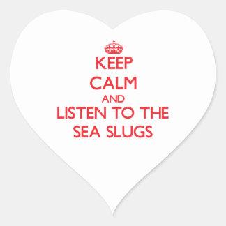 Keep calm and listen to the Sea Slugs Sticker