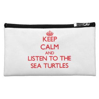 Keep calm and listen to the Sea Turtles Makeup Bag