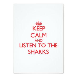 Keep calm and listen to the Sharks Custom Invites