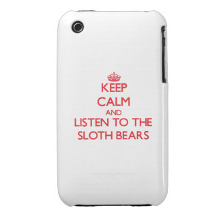 Keep calm and listen to the Sloth Bears iPhone 3 Cases