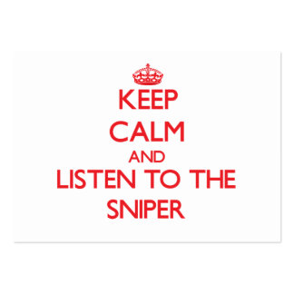 Keep Calm and Listen to the Sniper Business Card Templates