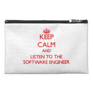 Keep Calm and Listen to the Software Engineer Travel Accessories Bag