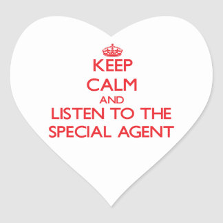 Keep Calm and Listen to the Special Agent Stickers