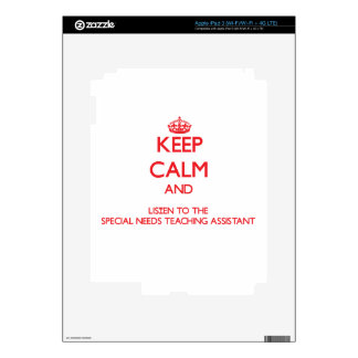 Keep Calm and Listen to the Special Needs Teaching Decals For iPad 3