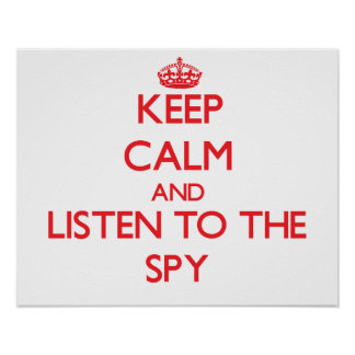 Keep Calm and Listen to the Spy Poster