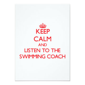 Keep Calm and Listen to the Swimming Coach Card