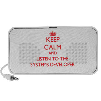 Keep Calm and Listen to the Systems Developer Travelling Speakers