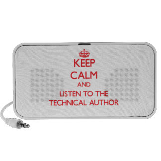 Keep Calm and Listen to the Technical Author Mini Speaker