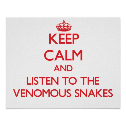 Keep calm and listen to the Venomous Snakes Print