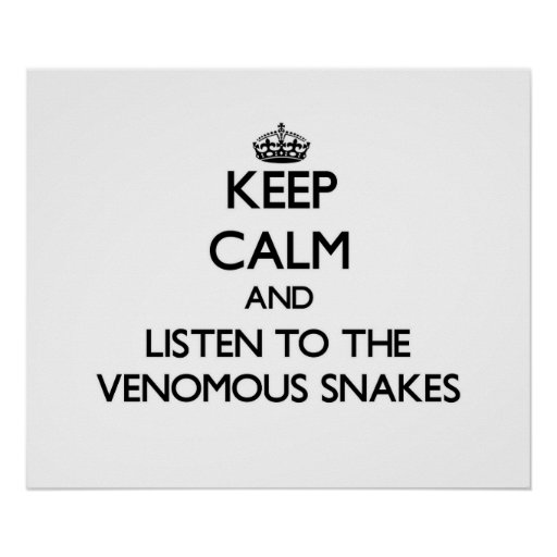 Keep calm and Listen to the Venomous Snakes Poster