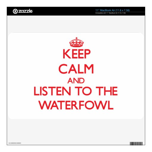 Keep calm and listen to the Waterfowl MacBook Decal