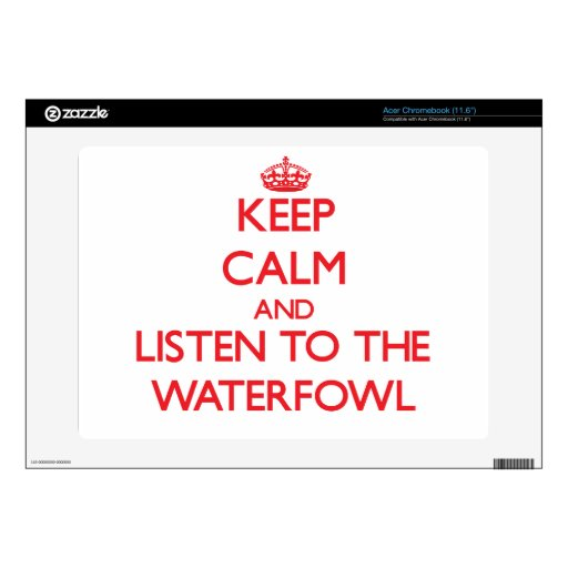 Keep calm and listen to the Waterfowl Acer Chromebook Skins