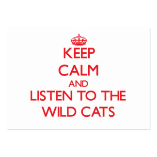 Keep calm and listen to the Wild Cats Business Card Template