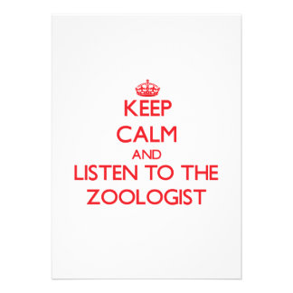 Keep Calm and Listen to the Zoologist Personalized Invites
