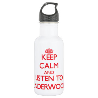 Keep calm and Listen to Underwood 18oz Water Bottle