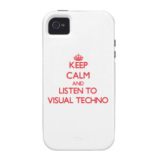 Keep calm and listen to VISUAL TECHNO Case-Mate iPhone 4 Cases