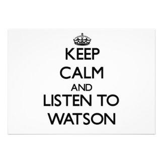 Keep calm and Listen to Watson Custom Invite