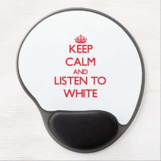 Keep calm and Listen to White Gel Mouse Mat