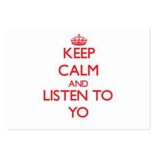 Keep calm and listen to YO Business Card
