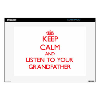 "Keep Calm and Listen to your Grandfather 15"" Laptop Decal"