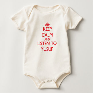 Keep Calm and Listen to Yusuf Baby Bodysuits