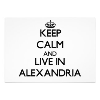 Keep Calm and live in Alexandria Cards